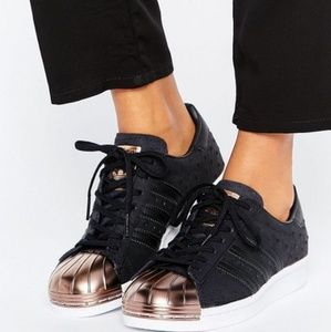 New Adidas Originals Superstar RoseGold Cap Toe